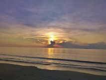 Sunrise and sea in morning travel Thailand Stock Photo