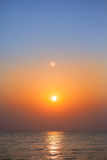 Sunrise in the sea Stock Photography