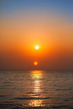Sunrise in the sea Stock Image