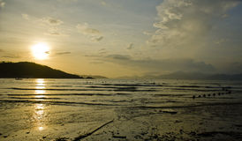 The sunrise by the sea in China. In south of china,landscape of sunrise by the sea in the morning Royalty Free Stock Photo