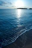 Sunrise sea coast. Wide angle photo Royalty Free Stock Images