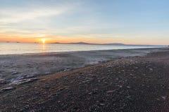 Sunrise on sea coast. A sunrise on sea coast Royalty Free Stock Photo