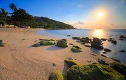 Sunrise on sea coast Stock Photography