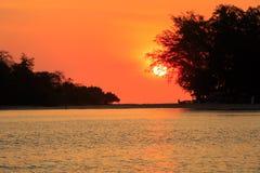 Sunrise on sea coast Stock Photo