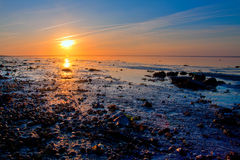 Sunrise at the sea coastline Royalty Free Stock Photography