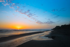 Sunrise on sea Stock Image