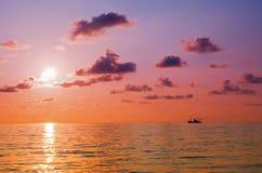 Sunrise at sea Stock Photography