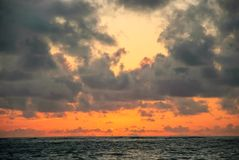 Sunrise in the sea royalty free stock photography