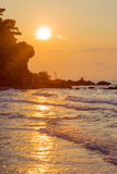 Sunrise at the sea. Sunrise at sea in east of Thailand Stock Photography