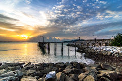 Sunrise sea at Khao Laem Ya Stock Images