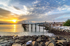 Sunrise sea at Khao Laem Ya Royalty Free Stock Photo