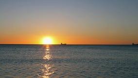 Sunrise at sea. Magic hour. Sunrise at sea. In a magical hour stock footage