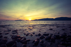 Sunrise on the sea. Royalty Free Stock Photography