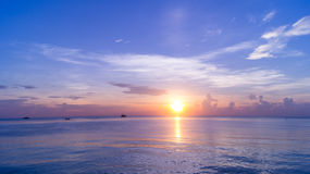 Sunrise from the Sea Royalty Free Stock Photo