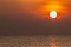 Sunrise at the sea Stock Photography