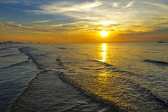 Sunrise in  the sea Royalty Free Stock Photo