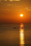 Sunrise on the sea in Nha Trang Royalty Free Stock Photo