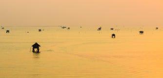 Sunrise in sea Stock Photo