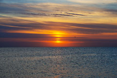 Sunrise on the sea Royalty Free Stock Photos