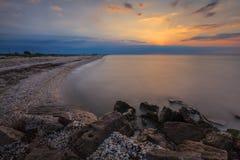 Sunrise at sea Stock Photo