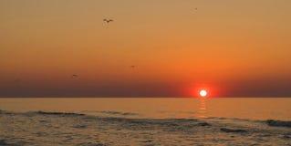 Sunrise on sea. Sunrise at sea,Romania landscape Stock Photography
