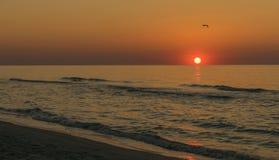 Sunrise on sea. Sunrise at sea,Romania landscape Royalty Free Stock Photo