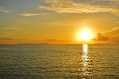 Sunrise by the sea at Samui island in Thailand Stock Photo