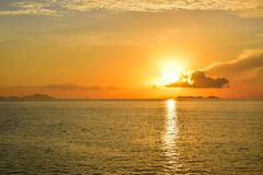 Sunrise by the sea at Samui island in Thailand Stock Image
