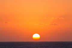 Sunrise at the sea Royalty Free Stock Photography