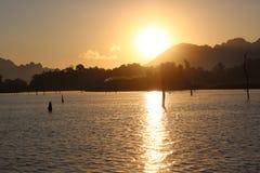 Sunrise in the sea stock image