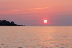 Sunrise sea view Stock Images
