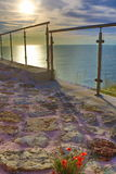 Sunrise sea view terrace Stock Image