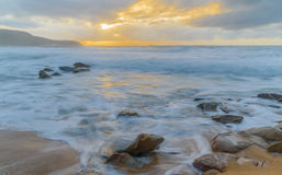 Sunrise Seascape. At Killcare Beach, Central Coast, NSW, Australia Stock Photos