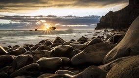 Sunrise, Seascape, New Zealand Stock Photos