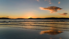 Sunrise Seascape with Reflections. Taken at Umina Point, Umina, NSW, Australia Stock Images