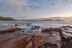 Sunrise Seascape from Rock Platform. Taken at Avoca Beach, Central Coast, NSW, Australia Stock Photography