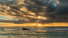 Sunrise Seascape. Taken at Blue Bay, Central Coast, NSW, Australia Royalty Free Stock Image