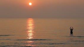 Sunrise at the seashore stock video footage