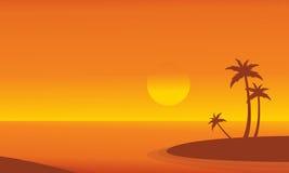 At sunrise seaside scenery vector Stock Photos