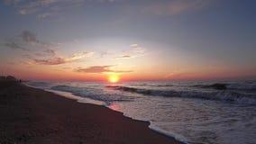 Sunrise on seaside time lapse. stock video footage