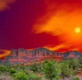 Sunrise Sedona Arizona. Sunrise Red Rock country mountains surrounding Sedona Arizona royalty free stock images