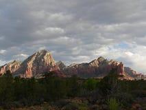 Sunrise Sedona Mountains. Morning light falls on the mountains surrounding Sedona, Arizona royalty free stock photos