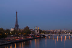 Sunrise on the Seine Royalty Free Stock Photography