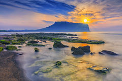 Sunrise at Seongsan Ilchulbong, Jeju island, South Korea. Sunrise at Seongsan Ilchulbong in Jeju island, South Korea Royalty Free Stock Photography