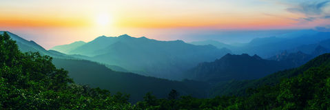 Sunrise at Seoraksan National Park, The best of Mountain in korea. Royalty Free Stock Image