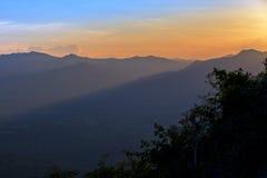 Sunrise serenity mountain landscape Royalty Free Stock Photos