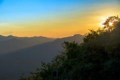 Sunrise serenity mountain landscape Royalty Free Stock Images