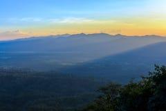 Sunrise serenity mountain landscape Royalty Free Stock Photo