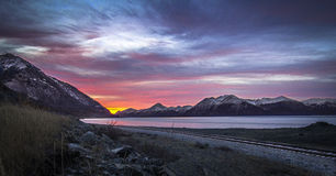 Sunrise from the Seward Highway Royalty Free Stock Photos
