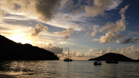 Sunrise in Seychelles Islands Stock Photography